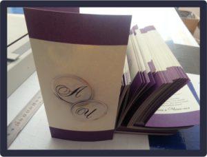 Приглашения на свадьбу на дизайнерской бумаге 28.09.2018 г.