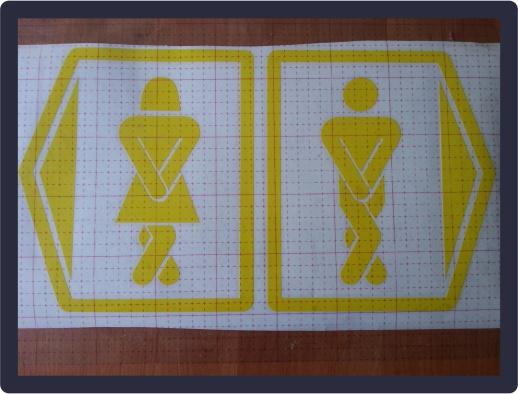 Наклейка — информационная табличка «Туалет» 05.10.2018 г.