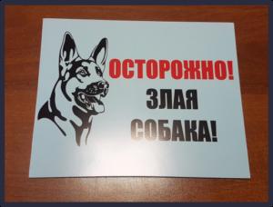 Изготовление таблички «Осторожно! Злая собака!». 07.02.2019 г.